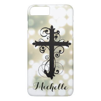 Christian Swirling Cross Personalized iPhone 8 Plus/7 Plus Case