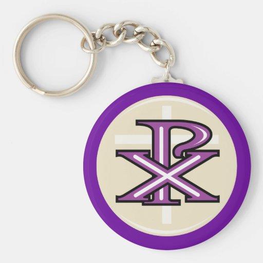 Christian Symbol Basic Round Button Keychain