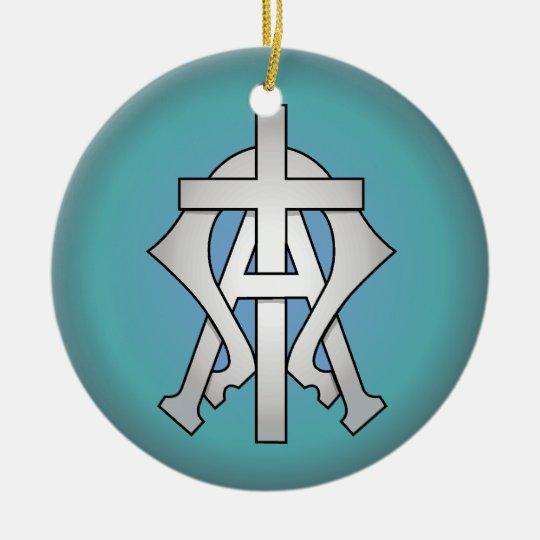 Christian Symbol Ceramic Ornament