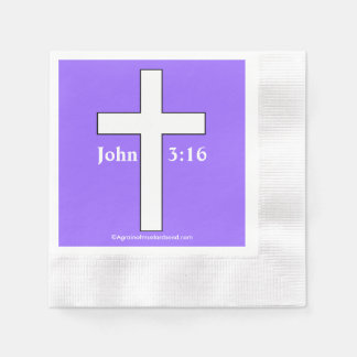 Christian Symbol Cross Coined Cocktail Napkin