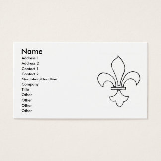 Christian Symbols Business Card