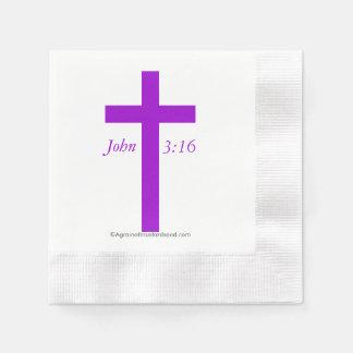 Christian Symbols Coined Cocktail Napkin