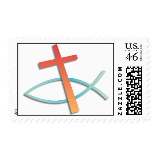 Christian Symbols Postage Stamp