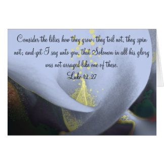 Christian Sympathy Card Consider the Lilies