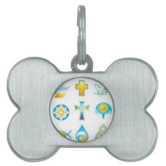 Christian Synbols Faith Filled Gift, Tie, Chain Pet Name Tag