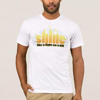Christian t-shirt - Shine like a light on a hill