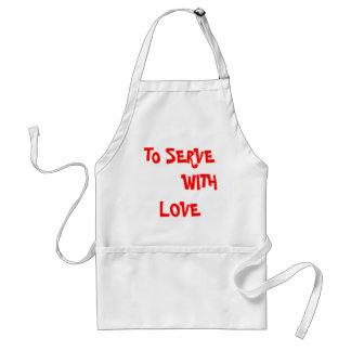 Christian t shirt -to serve with love adult apron