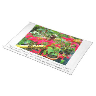 Christian table linens for Christmas Placemat