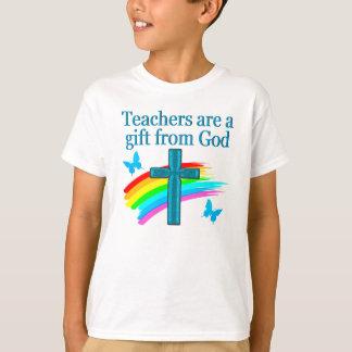 CHRISTIAN TEACHER CROSS AND BUTTERFLY DESIGN T-Shirt