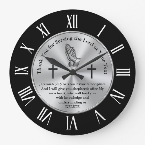 Christian Thank You Gifts, Custom Scripture Gifts Large Clock