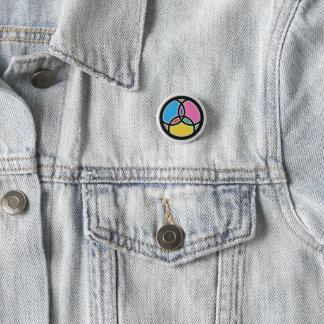 Christian Trinity & Jesus Fish Symbol Pinback Button