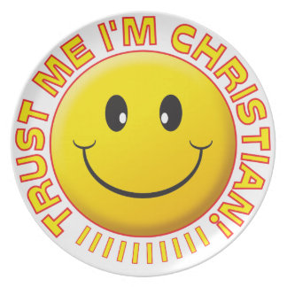 Christian Trust Me Smile Party Plates