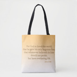 Christian Two Tone All-Over-Print Tote Bag