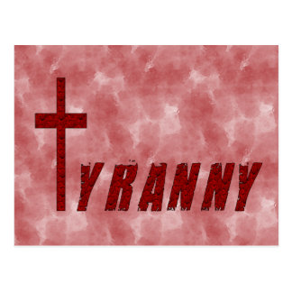 Christian Tyranny Postcard