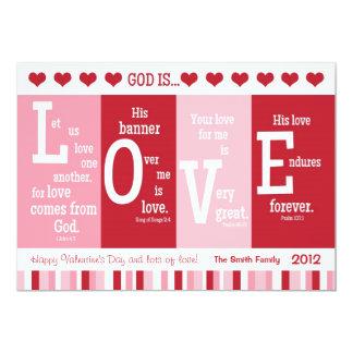 "Christian Valentine Card ""God is LOVE"" Bible Verse"
