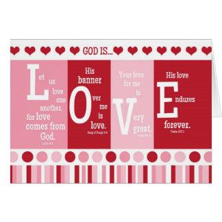 christian valentine card god is love