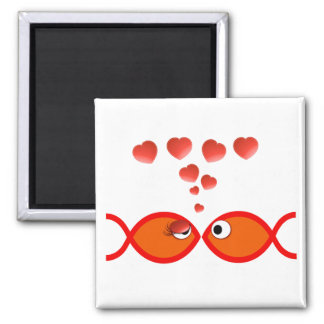 Christian Valentine Orange v2 2 Inch Square Magnet