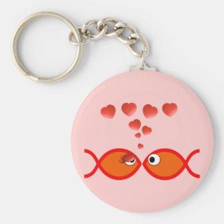 Christian Valentine Orange v2 Basic Round Button Keychain