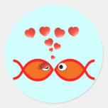 Christian Valentine Orange v2 Classic Round Sticker