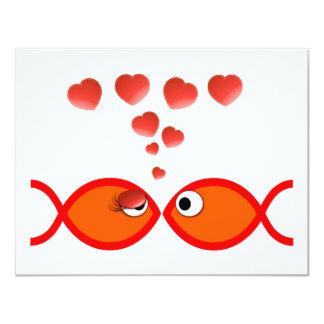 Christian Valentine Orange v2 4.25x5.5 Paper Invitation Card