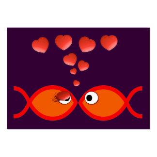 Christian Valentine Orange v2 Large Business Card