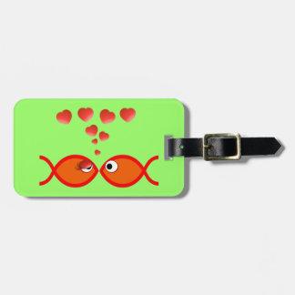 Christian Valentine Orange v2 Luggage Tag