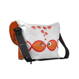 Christian Valentine Orange v2 Commuter Bags