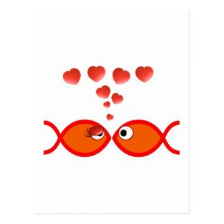 Christian Valentine Orange v2 Postcard
