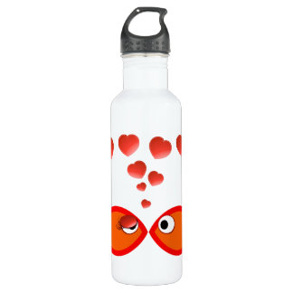 Christian Valentine Orange v2 Stainless Steel Water Bottle