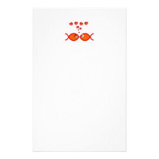 Christian Valentine Orange v2 Stationery