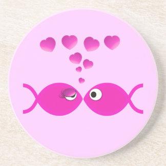 Christian Valentine Pink v2 Drink Coaster