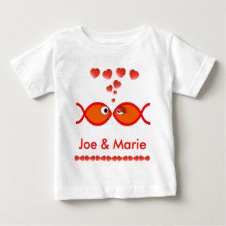 Christian Valentine Symbols - Orange v1 Baby T-Shirt