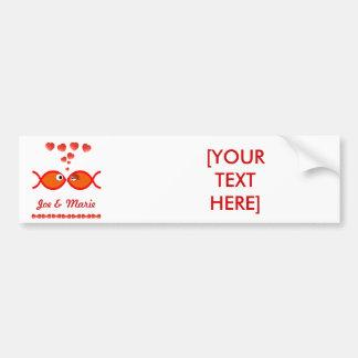 Christian Valentine Symbols - Orange v1 Bumper Sticker