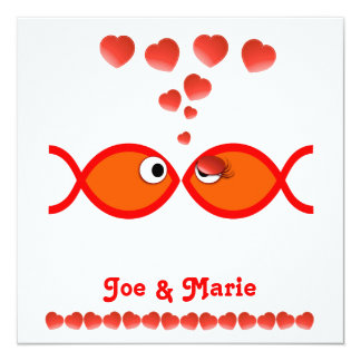 Christian Valentine Symbols - Orange v1 Card