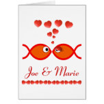 Christian Valentine Symbols - Orange v1 Greeting Cards