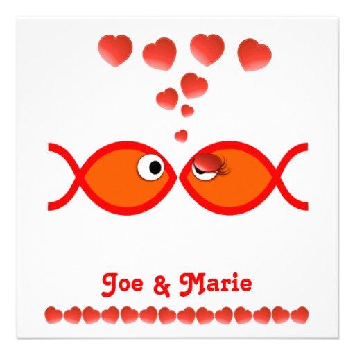 Christian Valentine Symbols - Orange v1 Personalized Invites