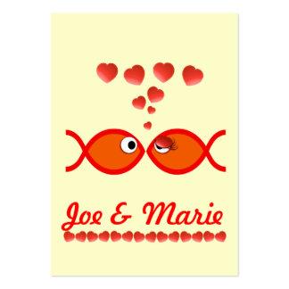 Christian Valentine Symbols - Orange v1 Large Business Card