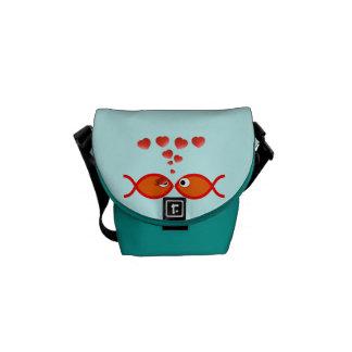 Christian Valentine Symbols - Orange v1 Messenger Bags