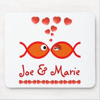 Christian Valentine Symbols - Orange v1 Mouse Pad