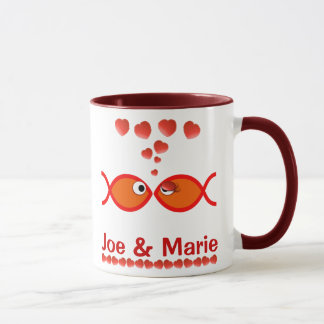 Christian Valentine Symbols - Orange v1 Mug