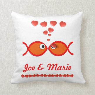 Christian Valentine Symbols - Orange v1 Pillow