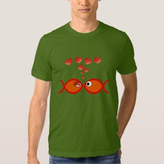Christian Valentine Symbols - Orange v1 T-shirt