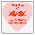 Christian Valentine Symbols - Orange v1 Room Graphics