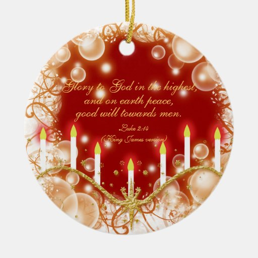 Christian verse christmas candles double sided ceramic for Christmas candles and ornaments