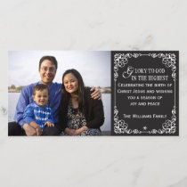 Christian Vintage Chalkboard Christmas Photo Cards