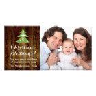 Christian Vintage Country Christmas Cross Tree Photo Greeting Card