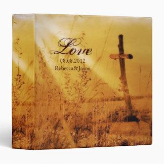 Christian vintage country cross wedding binder