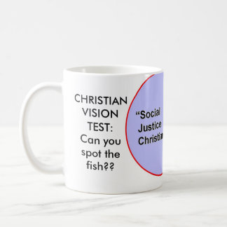 CHRISTIAN VISION TEST:Can youspot the fish? Classic White Coffee Mug