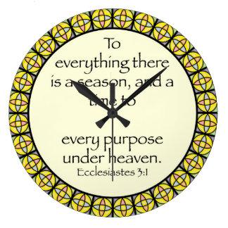 Christian Wall Clock - Ecclesiastes 3:1