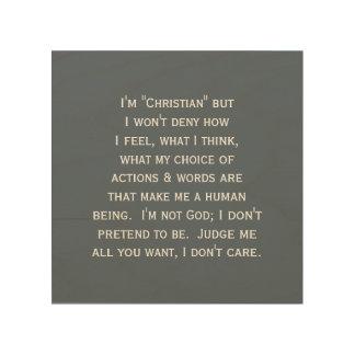 'Christian Wall Quotes' Wood Wall Art